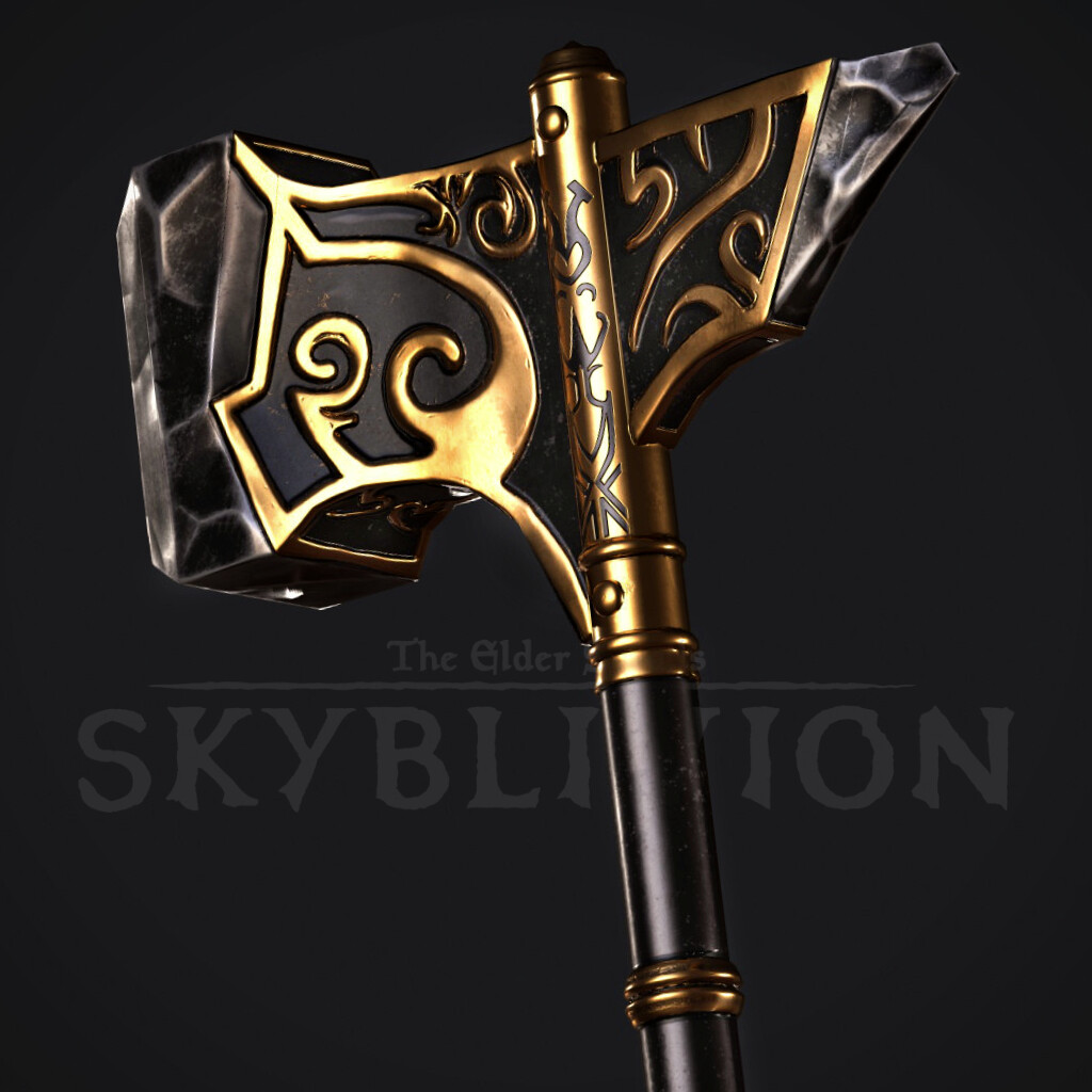 Ebony War Hammer  - TES:Skyblivion