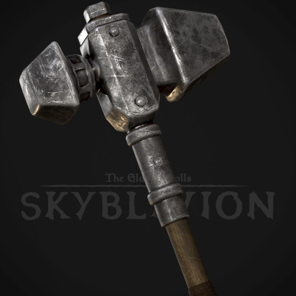 War Hammer - Iron Weapons Set (TES:Skyblivion)