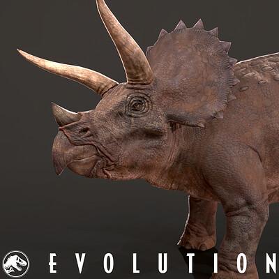 Marleen vijgen triceratops icon artstation