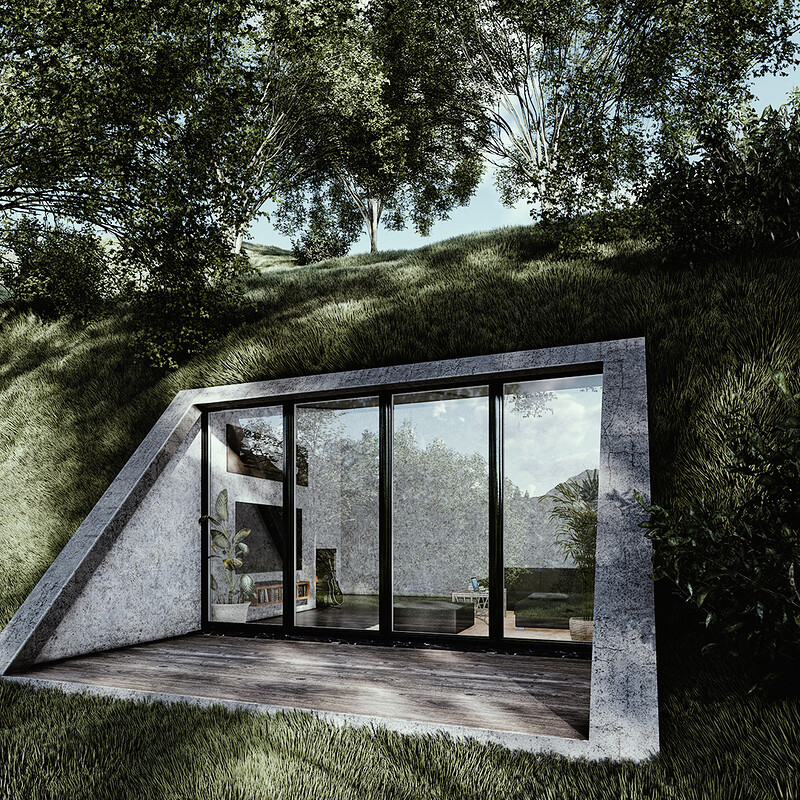 Cave Mountain House - Architecture