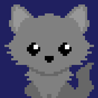 Wolf Cub Pixel Art Blanket Design