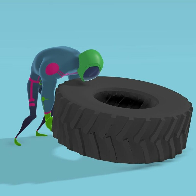 Tire Flip Animation