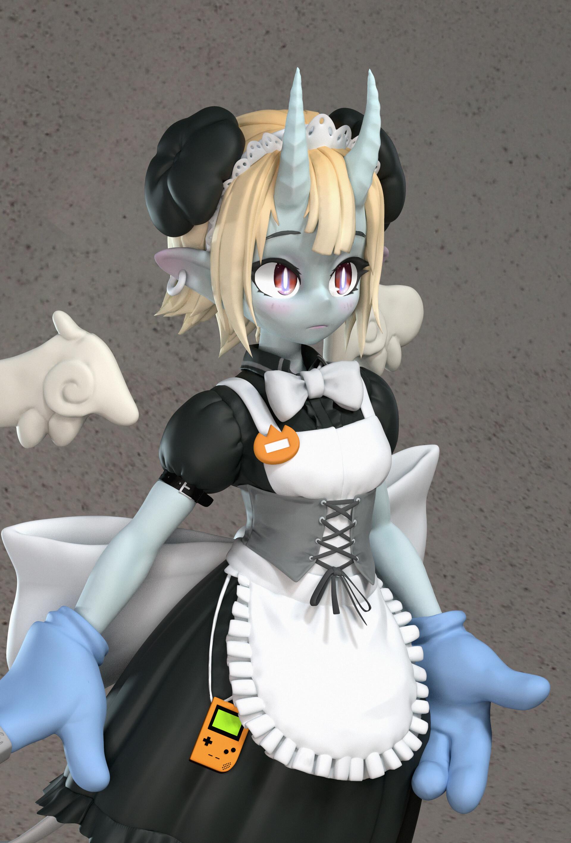 Devil Maid Girl | Zbrush Sculpt