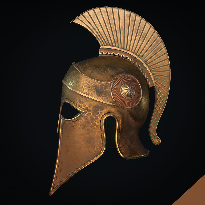 Ancient Greek Helmet Corinthian