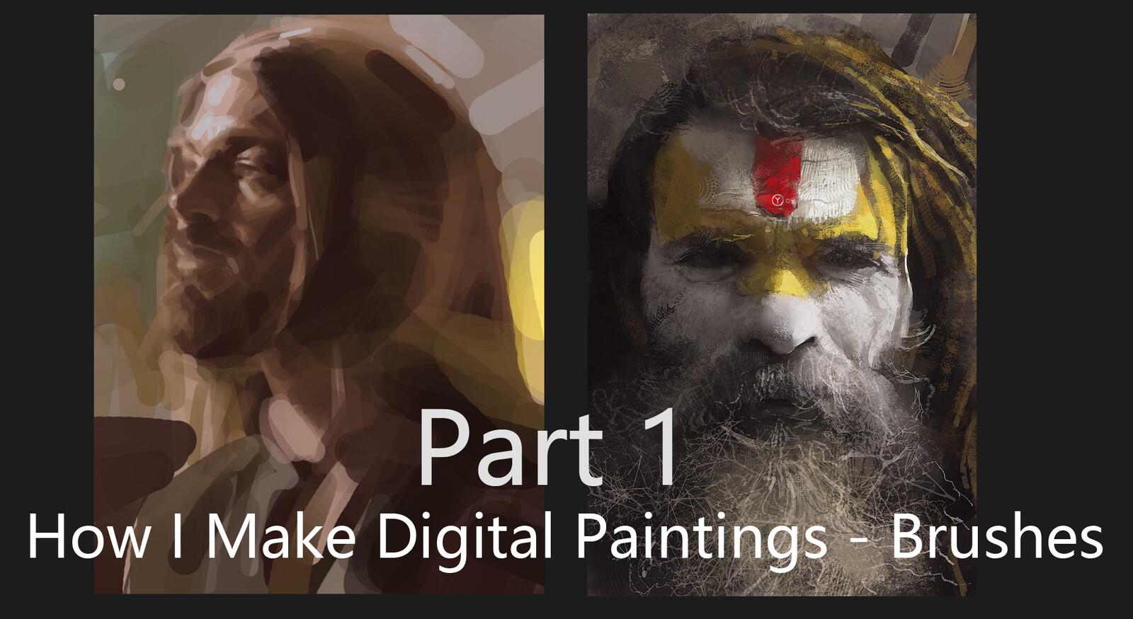 How I Make Digital Paintings | Brushes - part 1