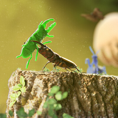"""""""King of The Stump"""" - Art of 3D Insects Challenge"""