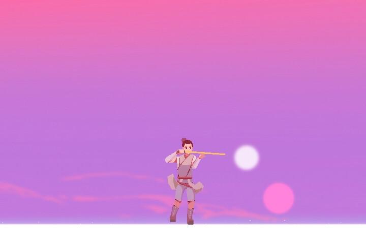 Star Wars - Rey Pixel Animation