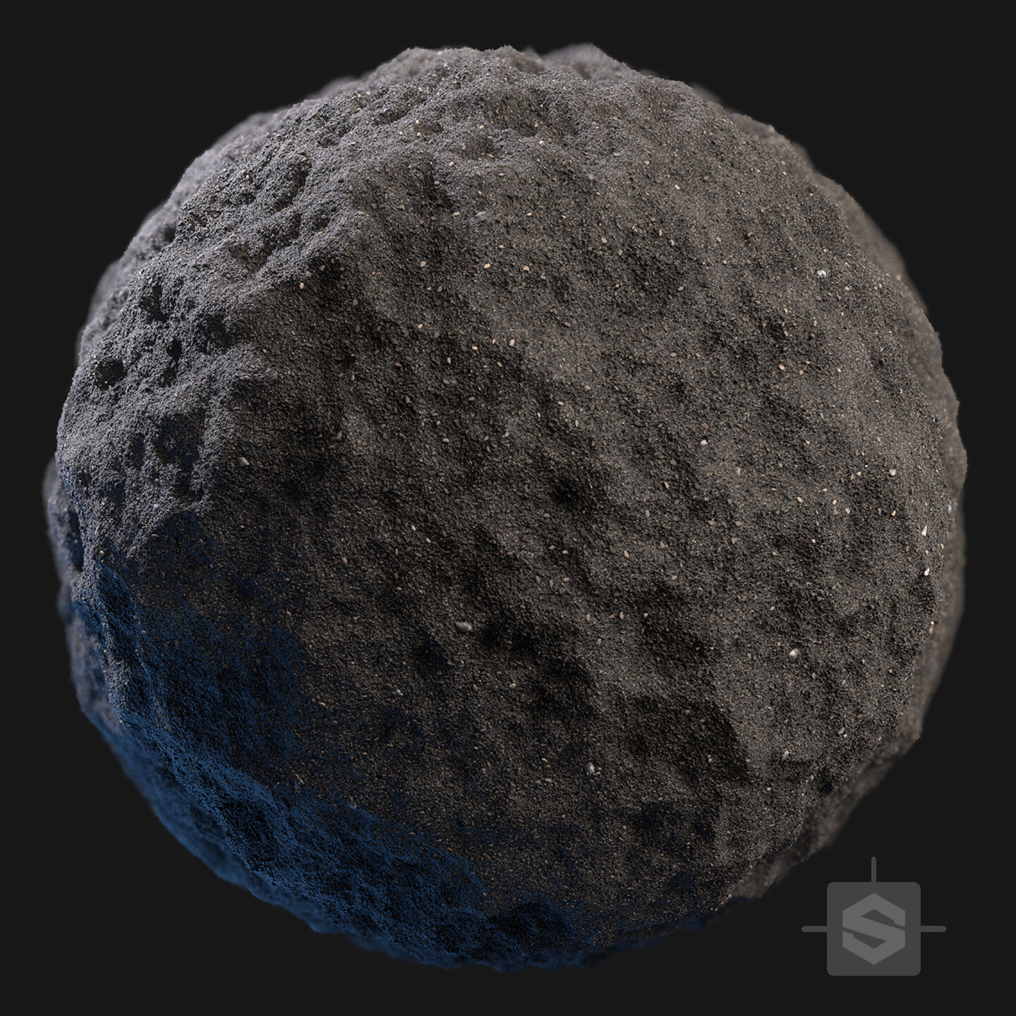 Substance Designer  - Black Gravel Sand