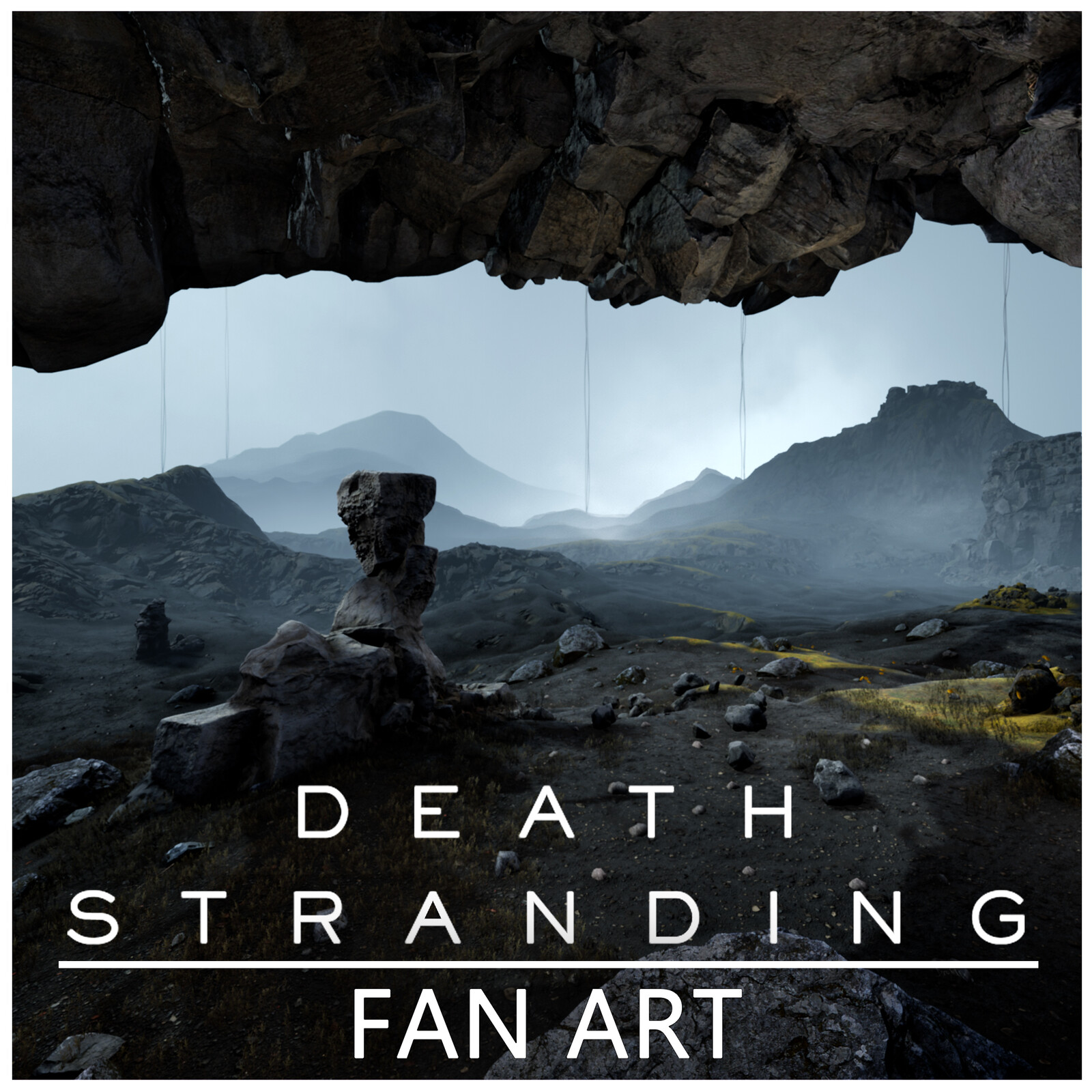 Procedural Death Stranding Fan Art Landscape with Houdini and UE4