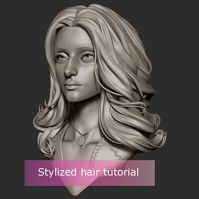 Yennefer - Stylized hair tutorial