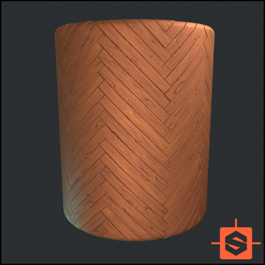 Stylised Wood Material