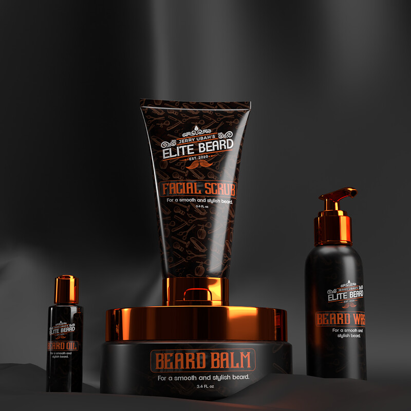 Elite Beard Packaging Design