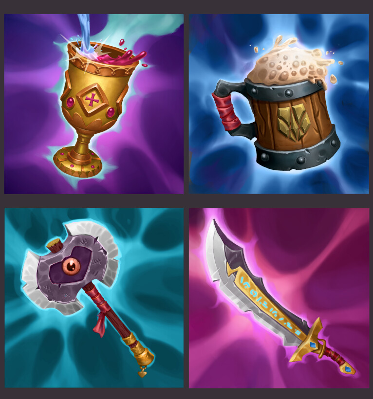 Icons for Ulrich's equipment