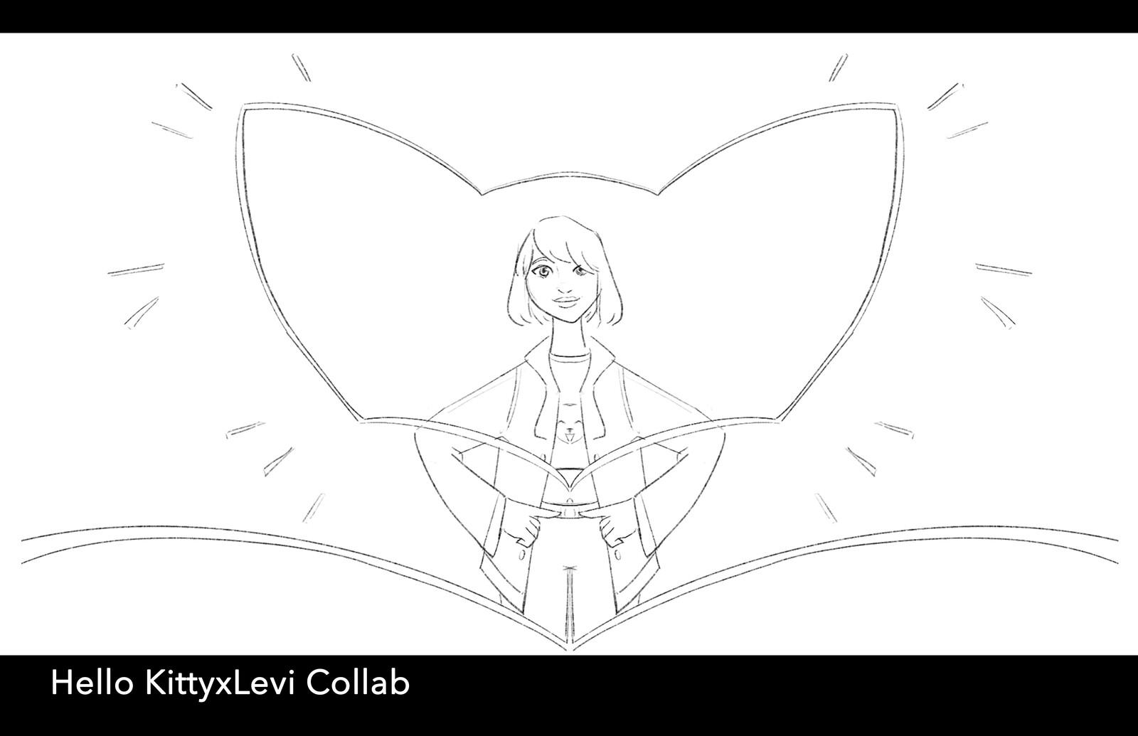Hello KittyxLevi Collab - Storyboards