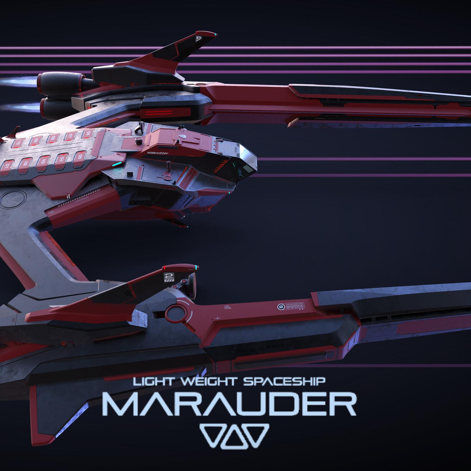 LWS MARAUDER - Spaceship KitBash Set
