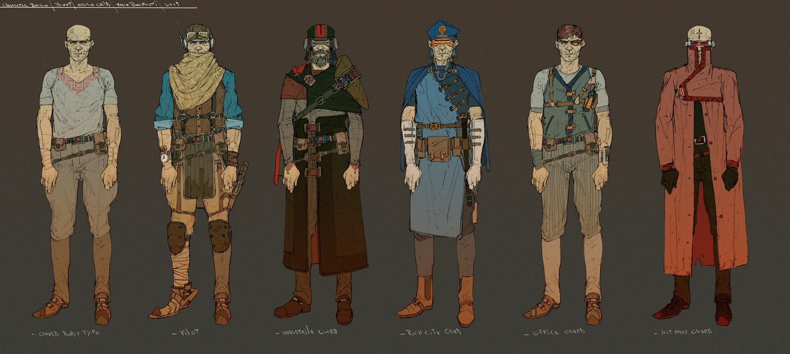 Character design - Guard - indigo child