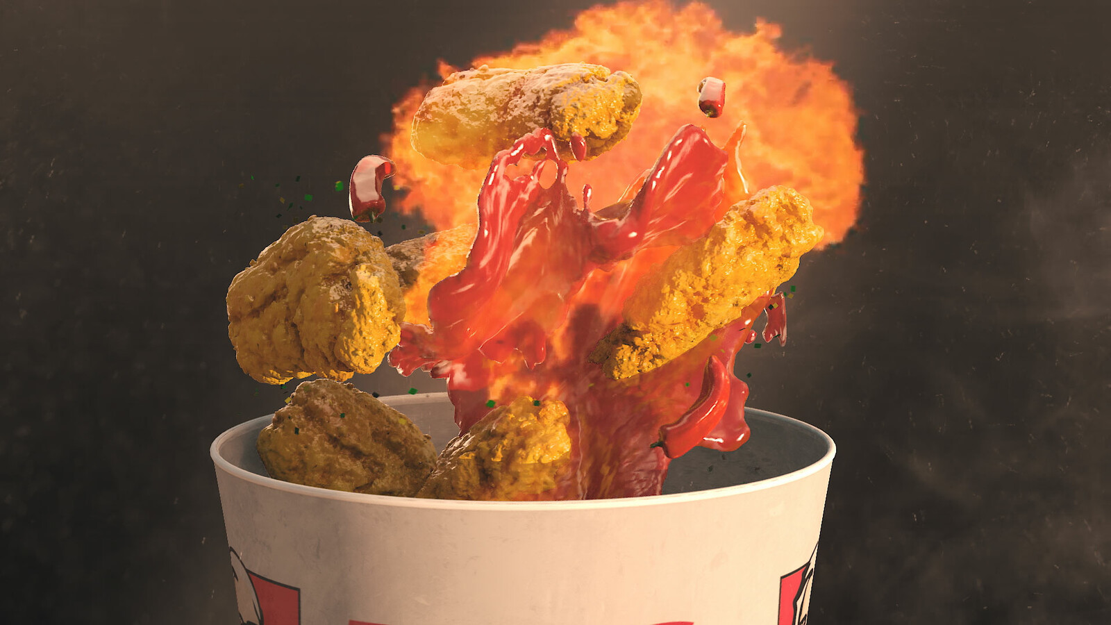 KFC FIRECRACKER VFX BREAKDOWN