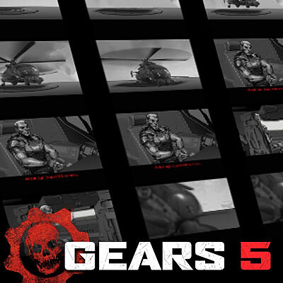 Gears of War 5 Cinematic Storyboards: Return to Old Ephyra