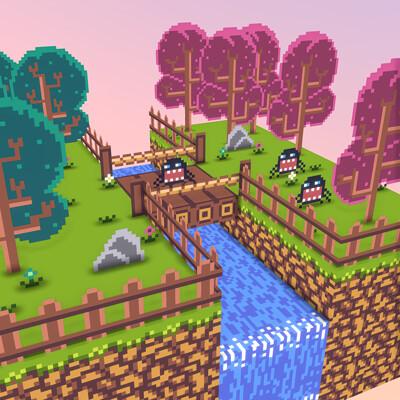 Eric quesada forest diorama 3d