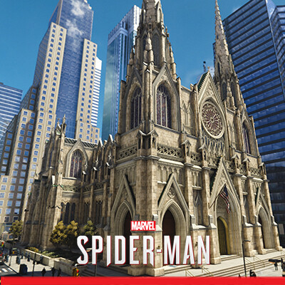 Spider-Man PS4: St. Patrick's Cathedral