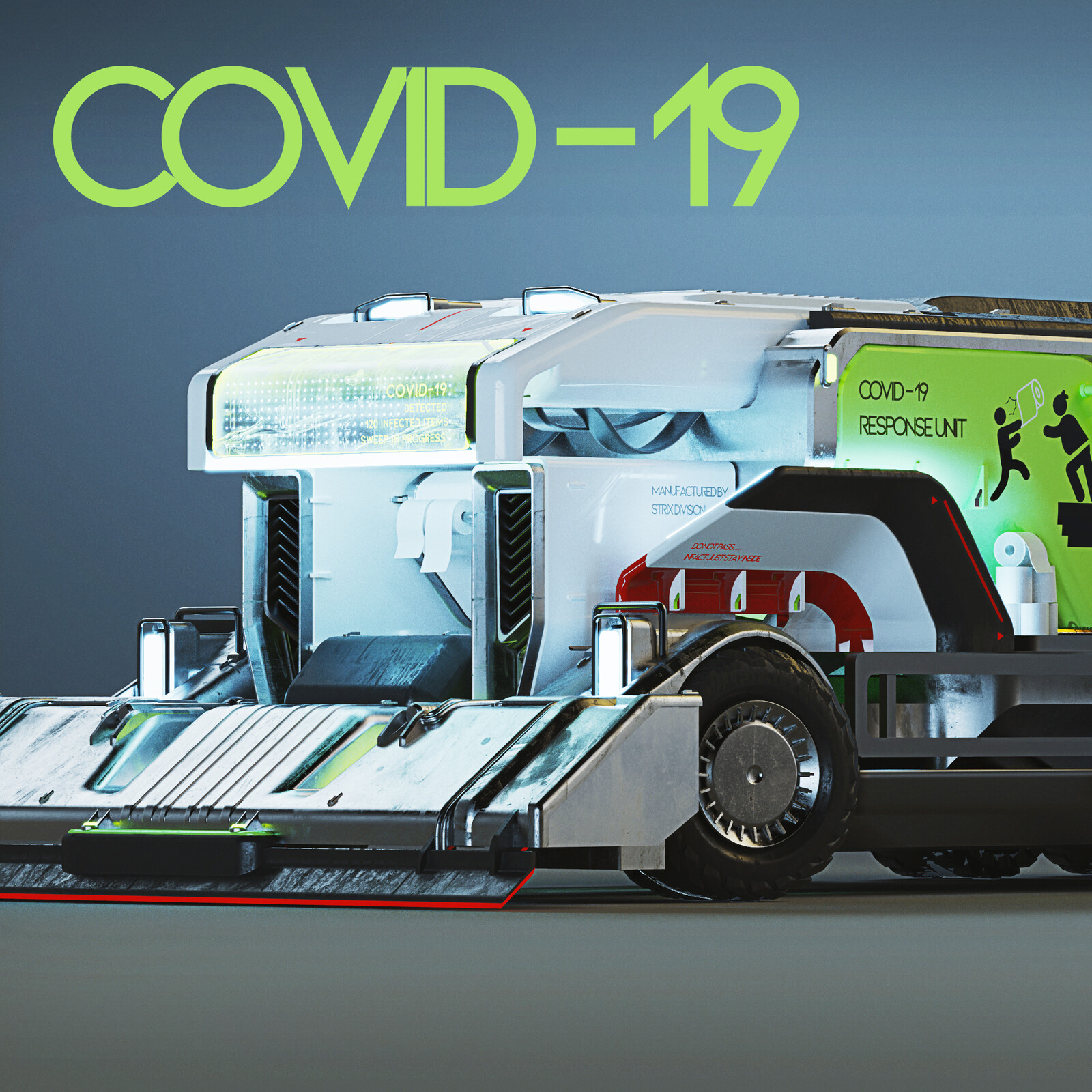 Strix Division Autonomous Covid-19 Truck Concept Design