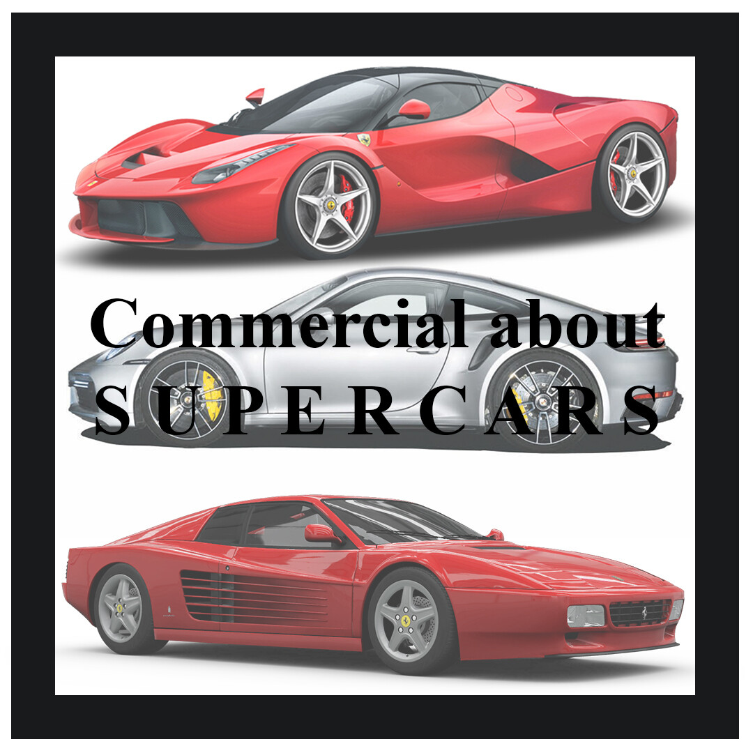 Artstation Poster Commercials Supercars Luis Blancas