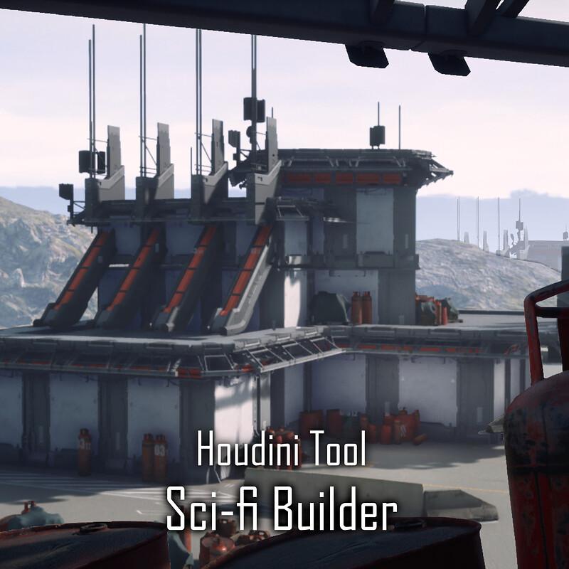 Sci-fi Builder V1 with Houdini