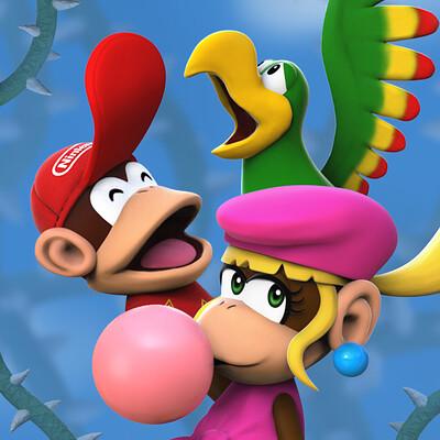 Donkey Kong Country 2 - Squawk's Heavy Birden