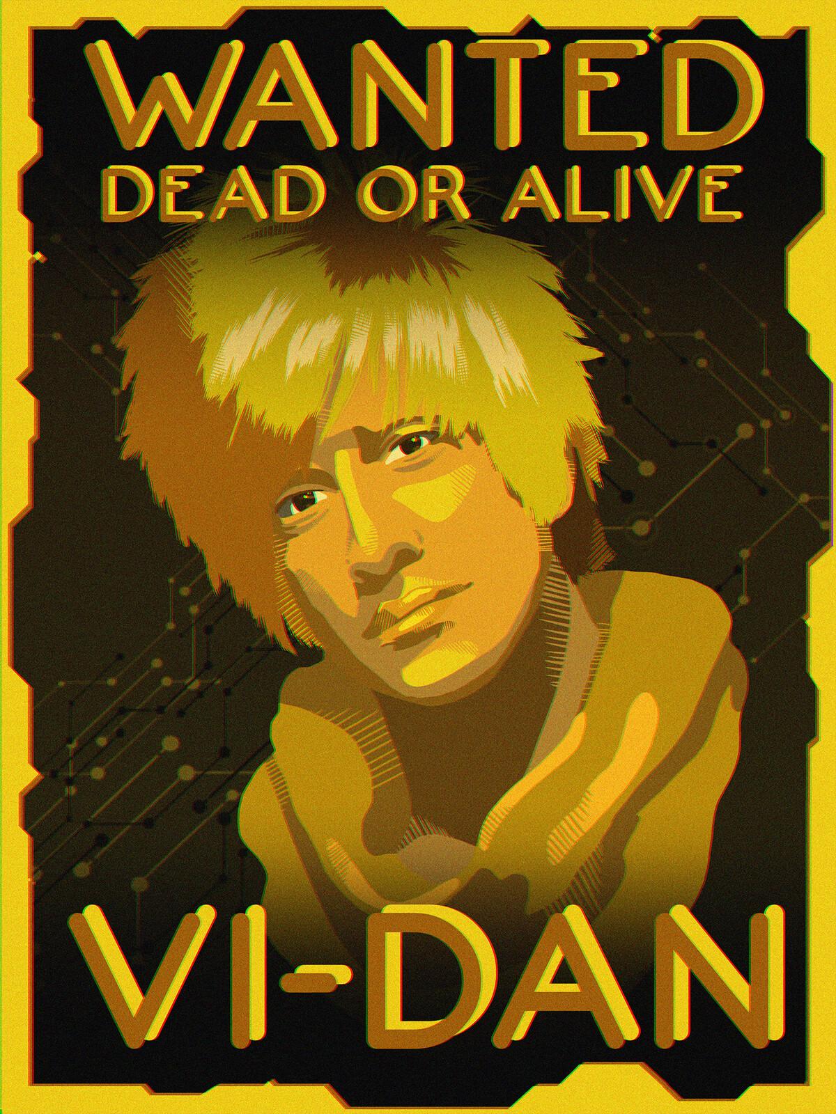 Cyberpunk 2077 Short Wanted Poster