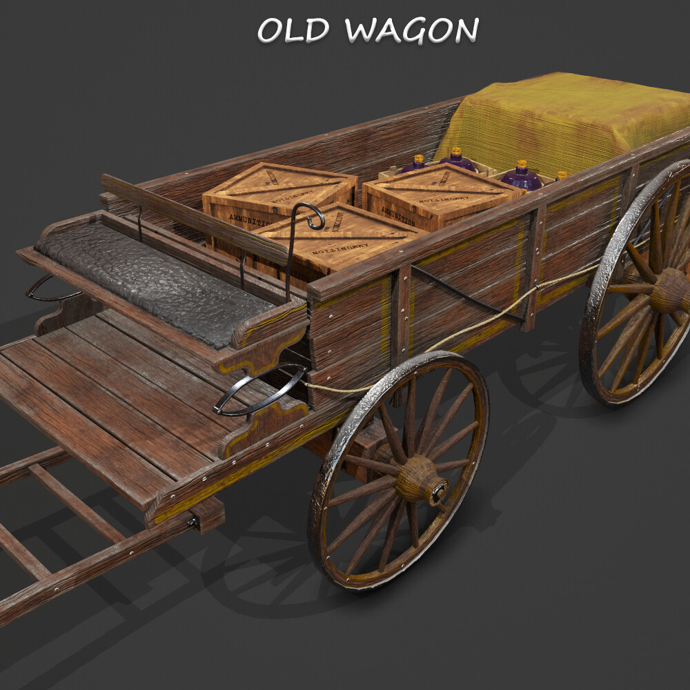 Old Western Wagon