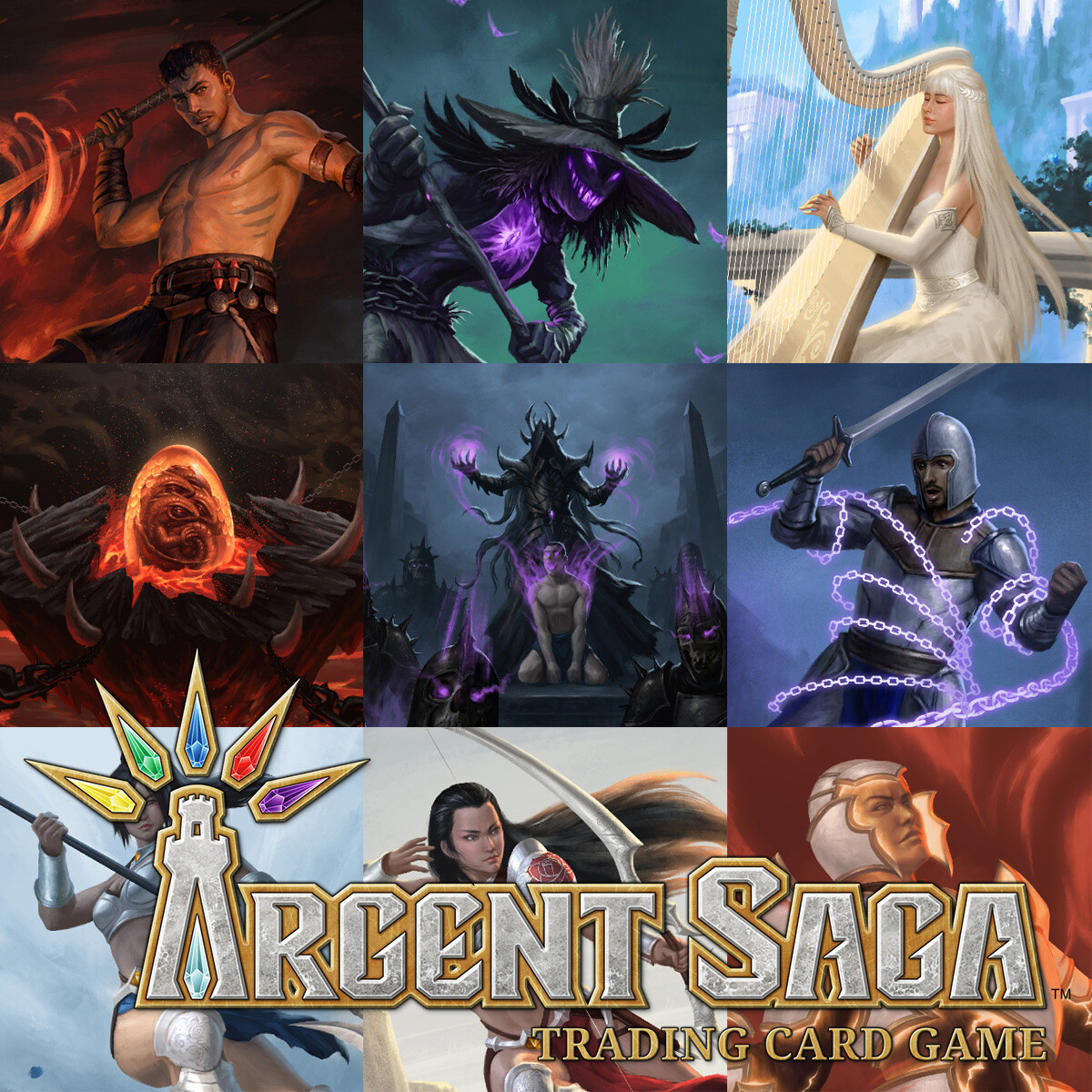 Illustrations for Argent Saga TCG