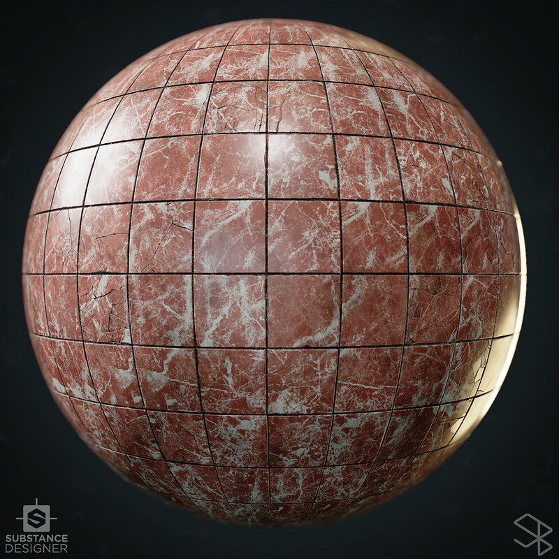 Procedural Tiles Damage Generator - 100% Substance Designer