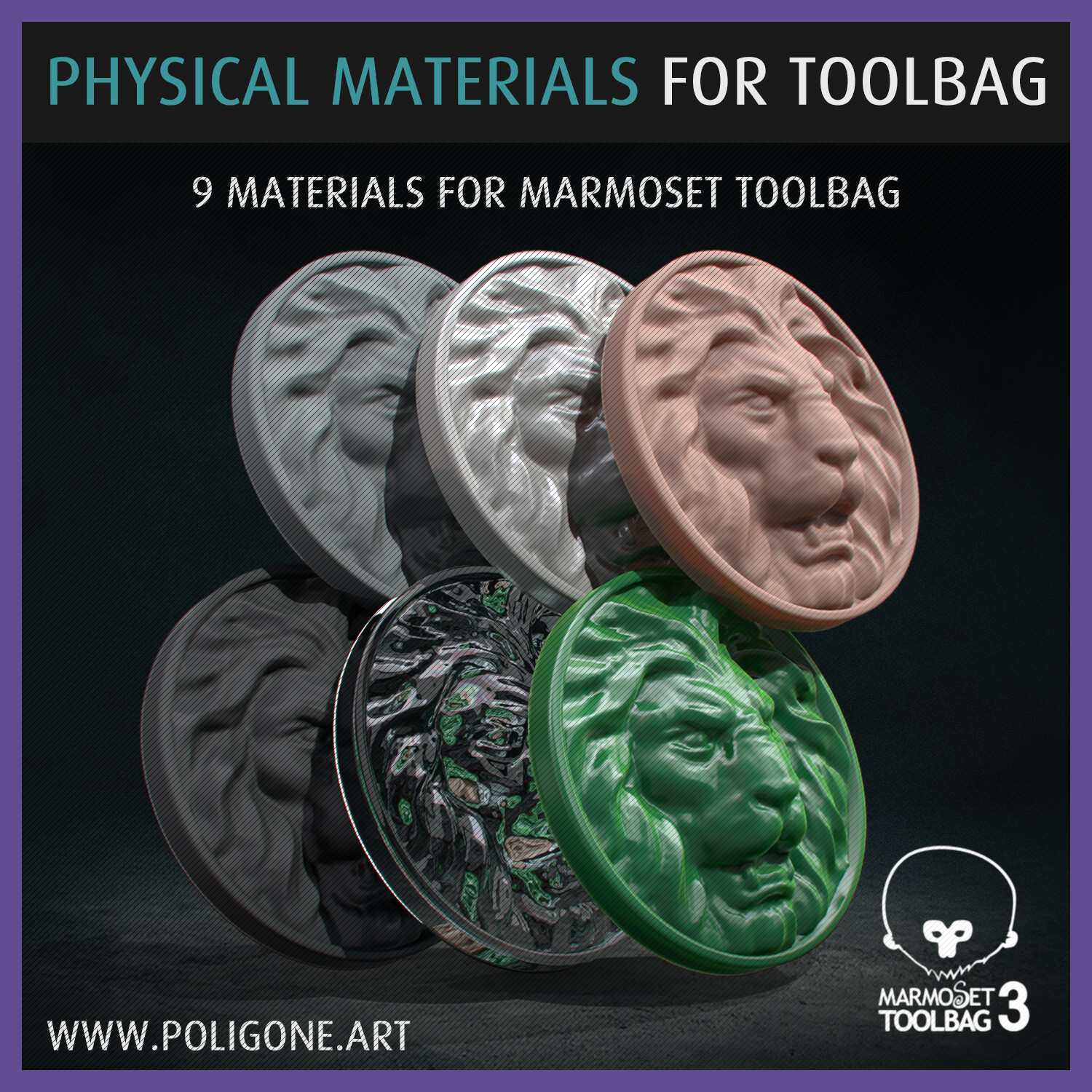Physical Materials for Marmoset Toolbag