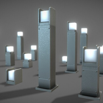 Dennis haupt 01 3dhaupt street light 8 light bollard basic modeled and textured in blender 2 82a