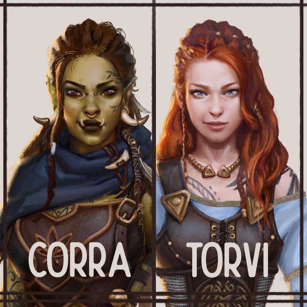 Torvi and Corra