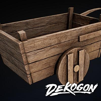 Dekogon Kollab: Medieval Pull Cart