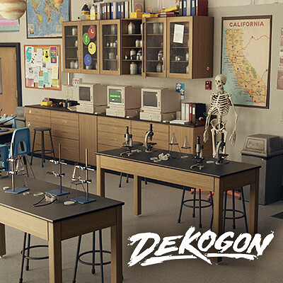 Dekogon Highschool Science Classroom (UE4)