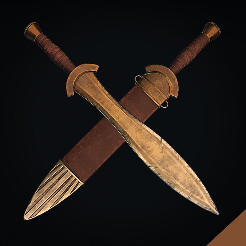 Ancient Greek Lakonian Sword Sparta