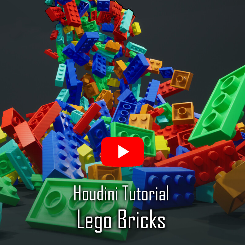 Procedural Lego Bricks Houdini Tutorial