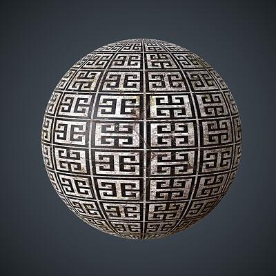 Darrell glidden darrell glidden damaged greek tiles sphere