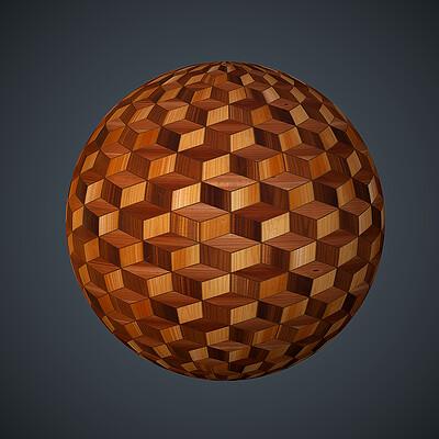 Darrell glidden darrell glidden wood 3d cube sphere