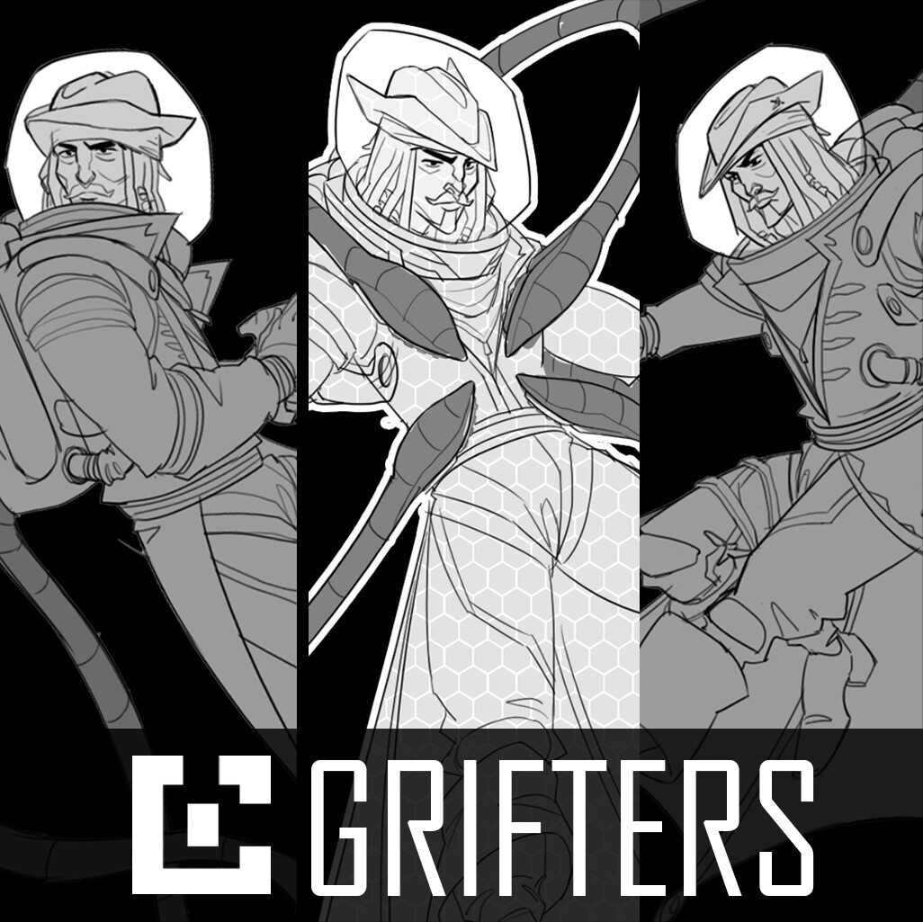 GRIFTERS: Captain Sparrow Action Sheet
