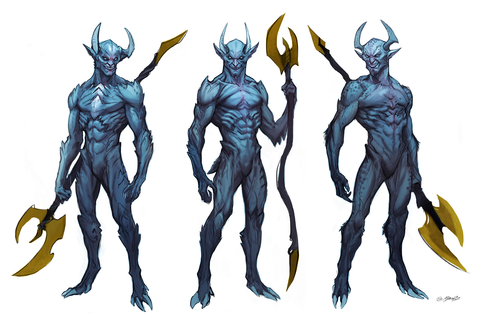 BLUE DEVIL Design Sketches for Swampthing