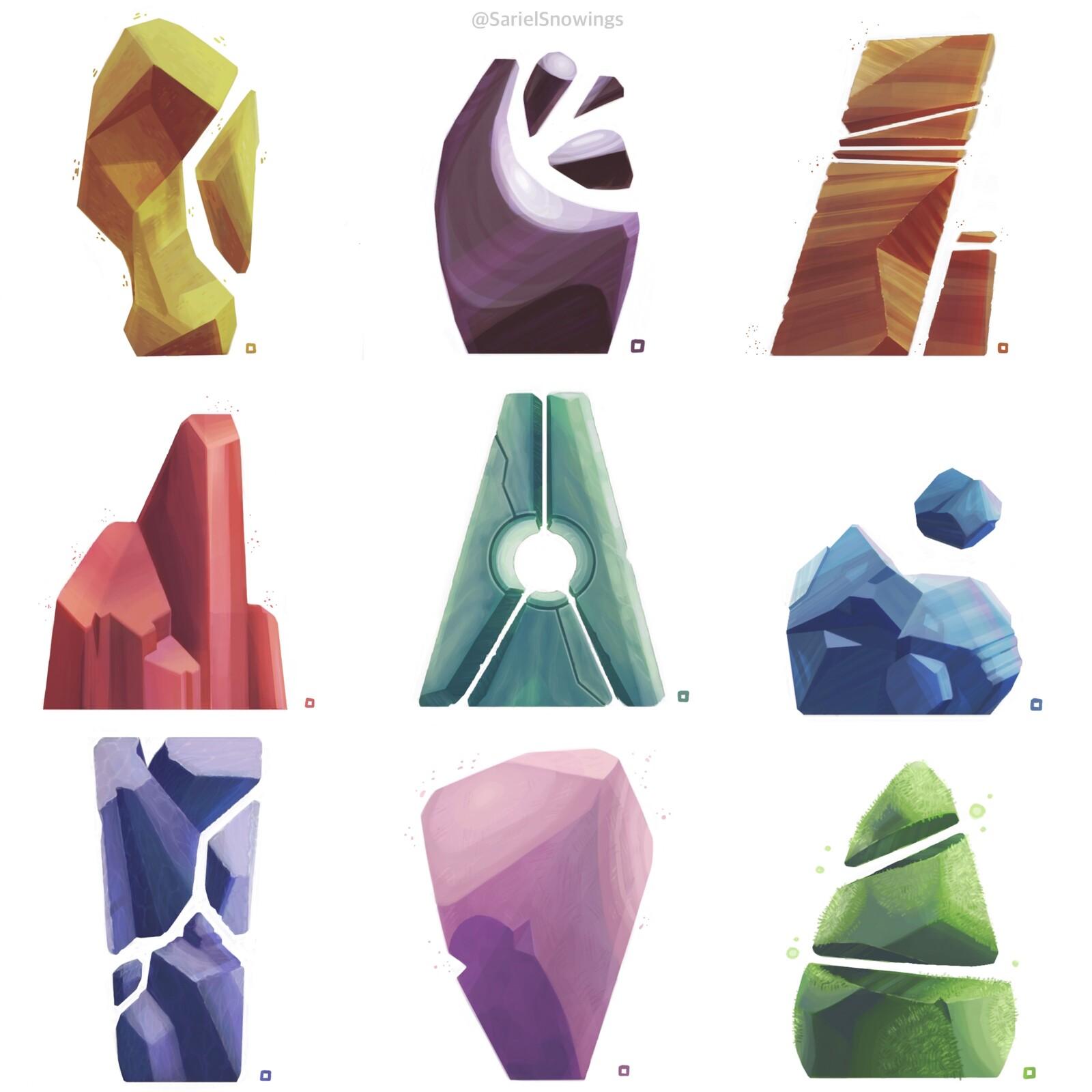 Prop Design Study - Rocks