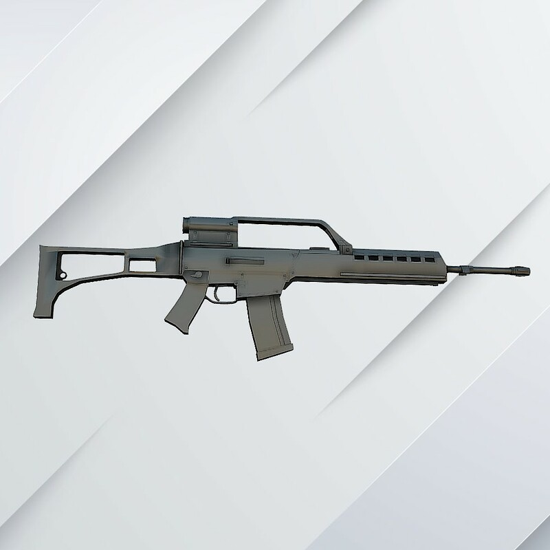 Assault rifle - HK G36E - For 3D print