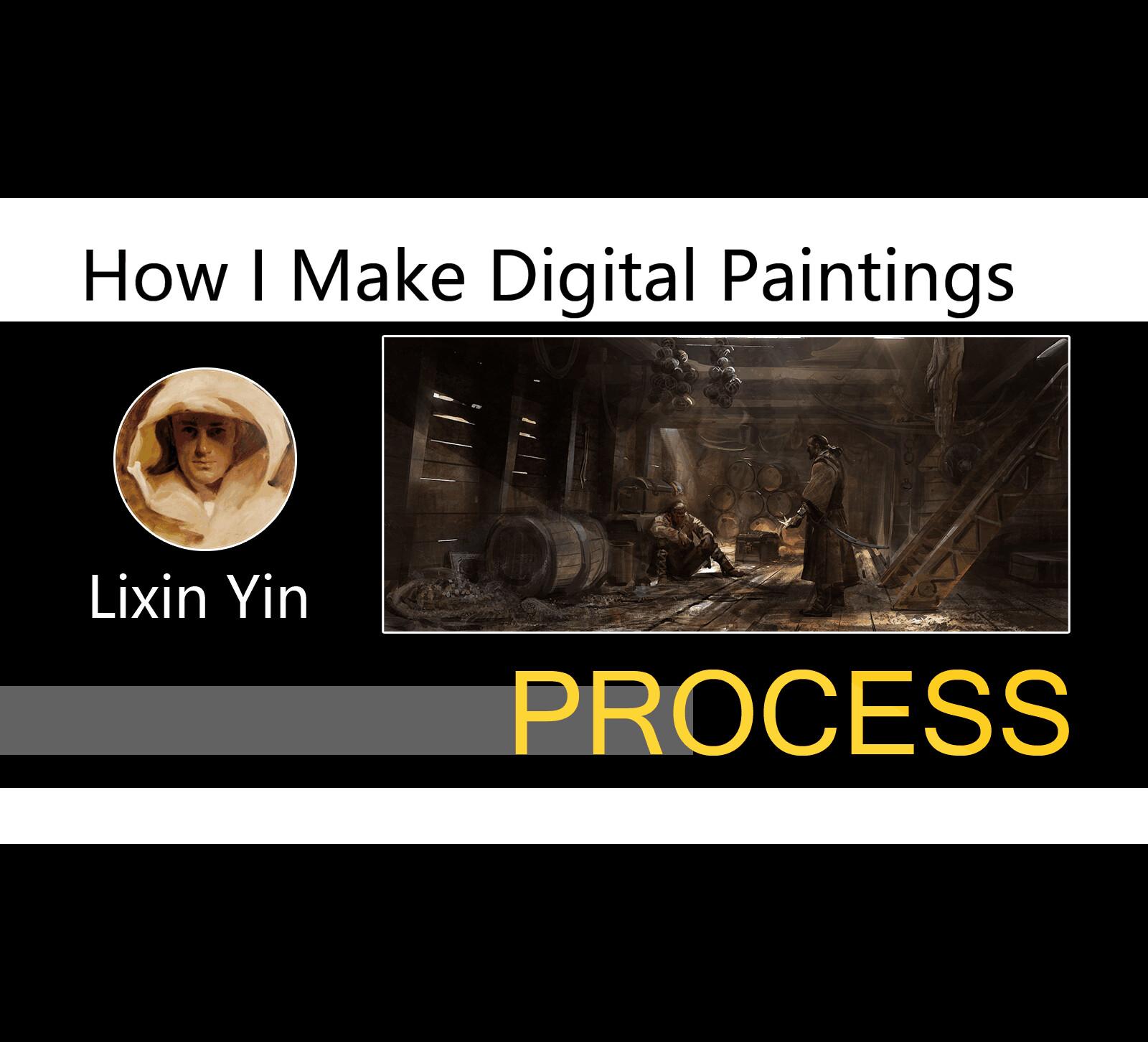 How I Make Digital Paintings | Process(Paper folding)