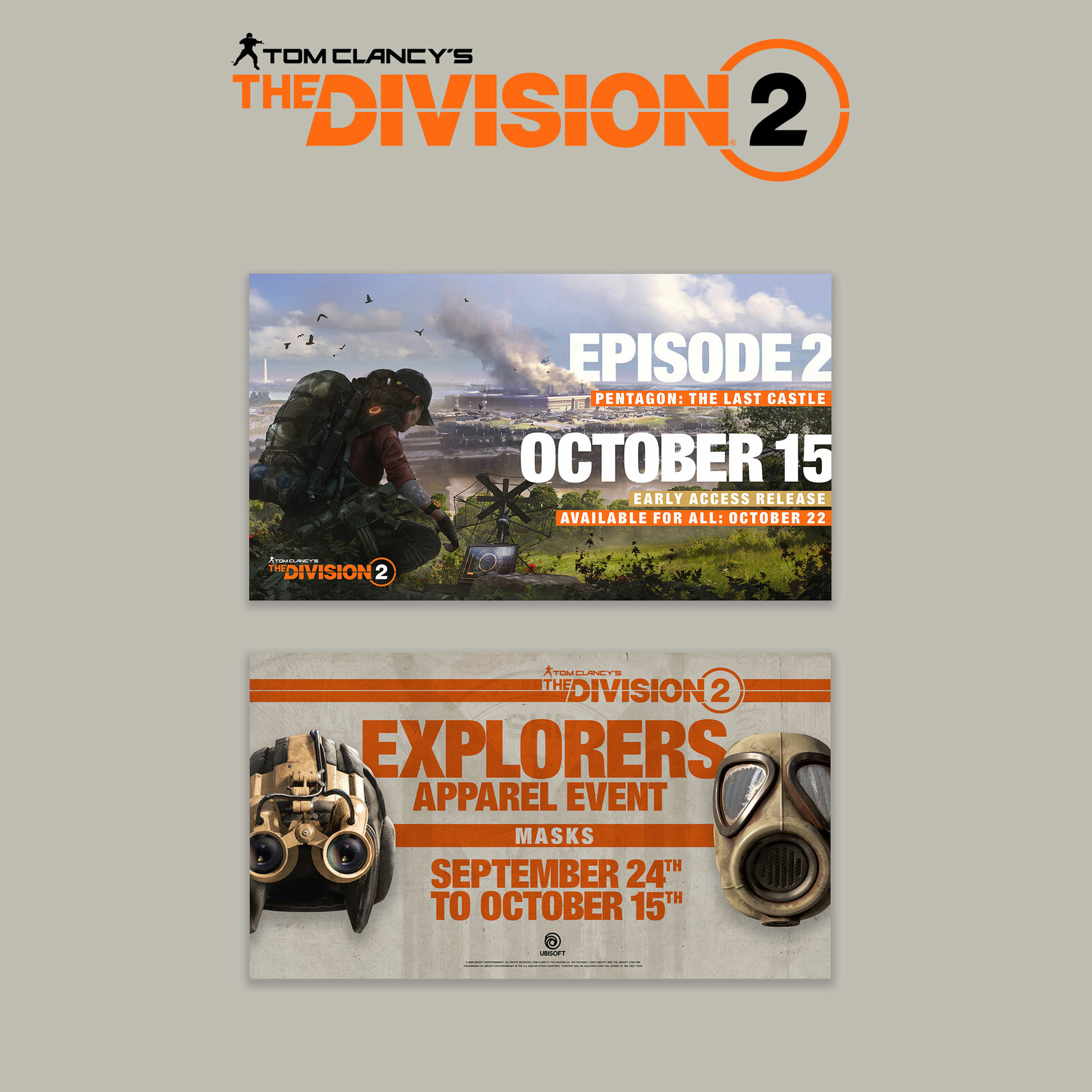 Massive Entertainment - The Division 2 - Flashcards