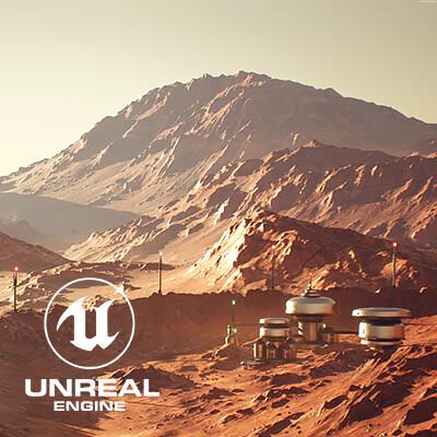 Mars Outpost Vista: UE4