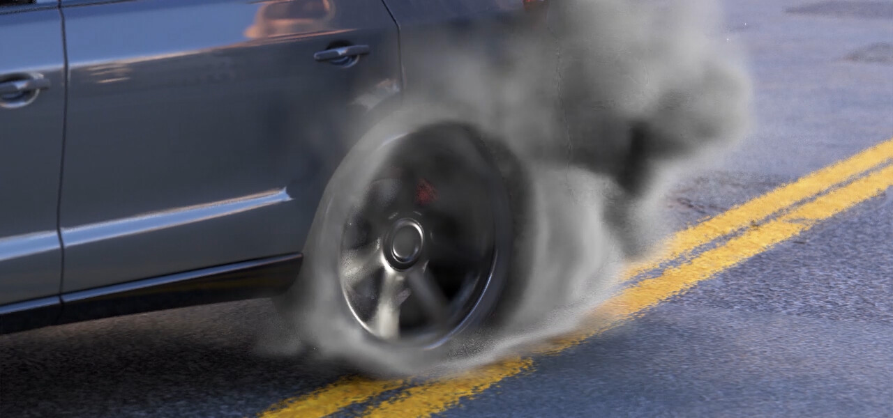 Car Tyre Burnout - Cinema 4D / Redshift