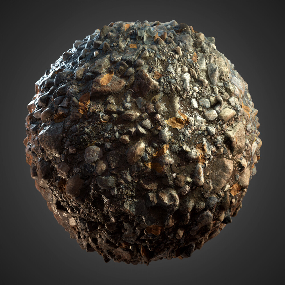 Pebble Rocks Material Study